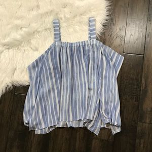 NWT Vince Camuto Striped Off the Shoulder Top